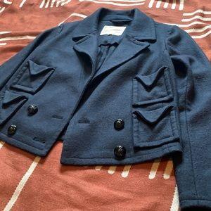 Alexa Chung for Madewell Navy Wool Blazer Jacket